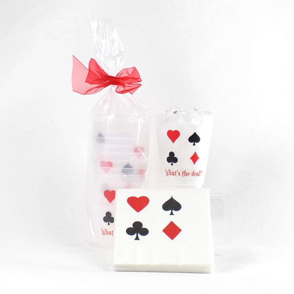 Playing Card Suits Cups & Napkins