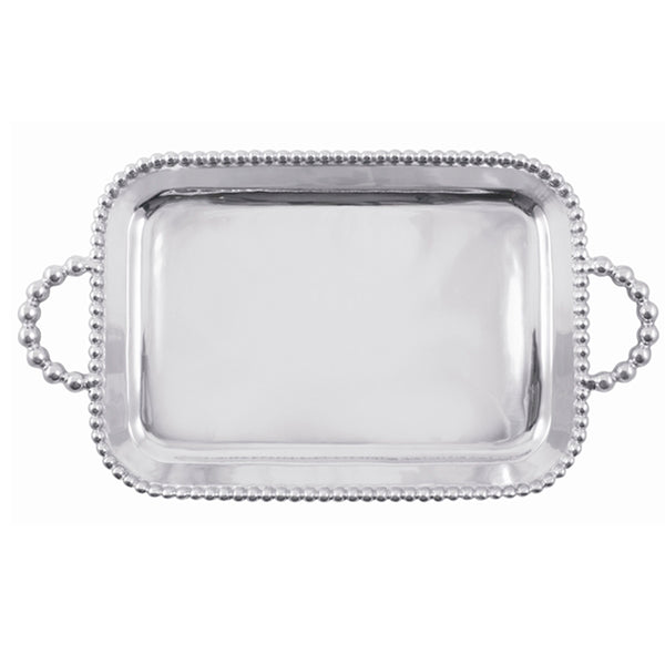 PEARLED SERVICE TRAY ENGRAVABLE