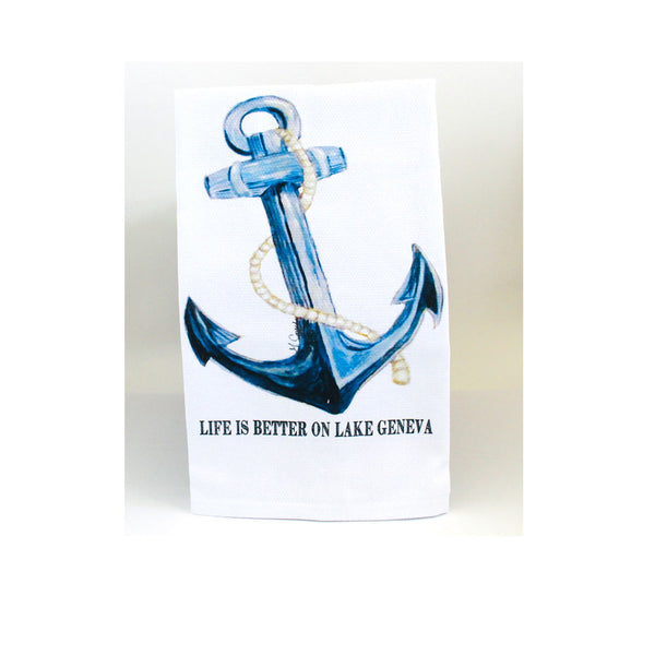 Lake Geneva Dish Towel