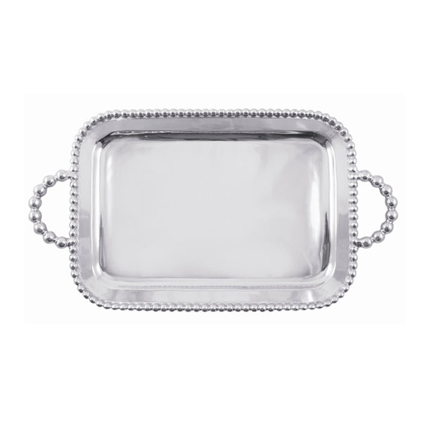 PEARLED MEDIUM SERVICE TRAY ENGRAVABLE