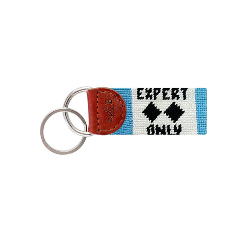 Ski Needlepoint Key Fob