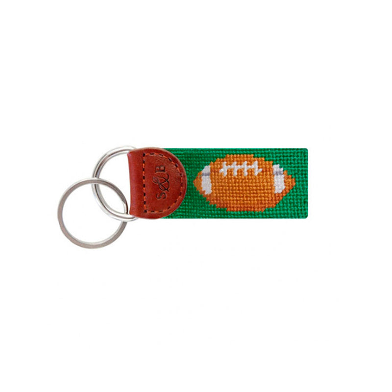 Football Needlepoint Key Fobs