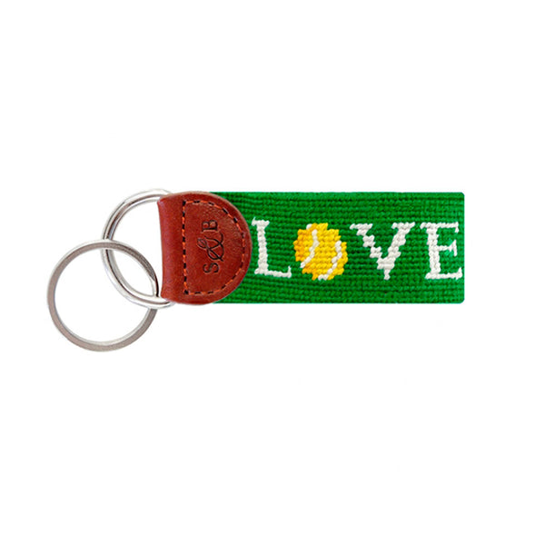 Tennis Needlepoint Key Fob
