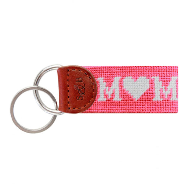 MOM Needlepoint Key Fob