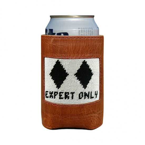 Ski Needlepoint Can Cooler