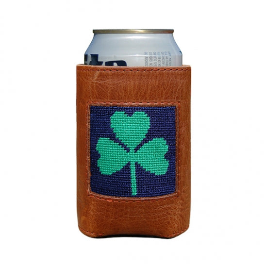 Shamrock Needlepoint Can Cooler