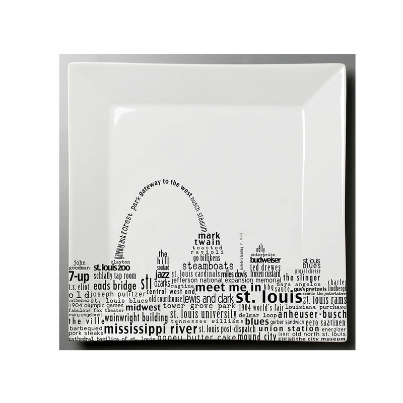 St. Louis Square Plate Small