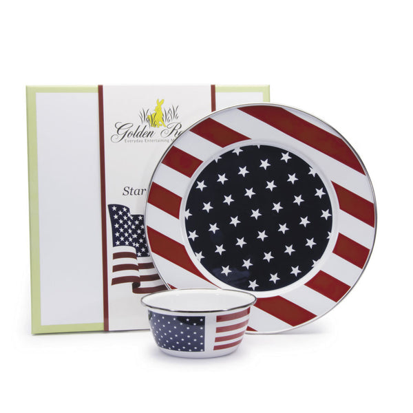 Stars & Stripes Enamel Chip & Dip Set