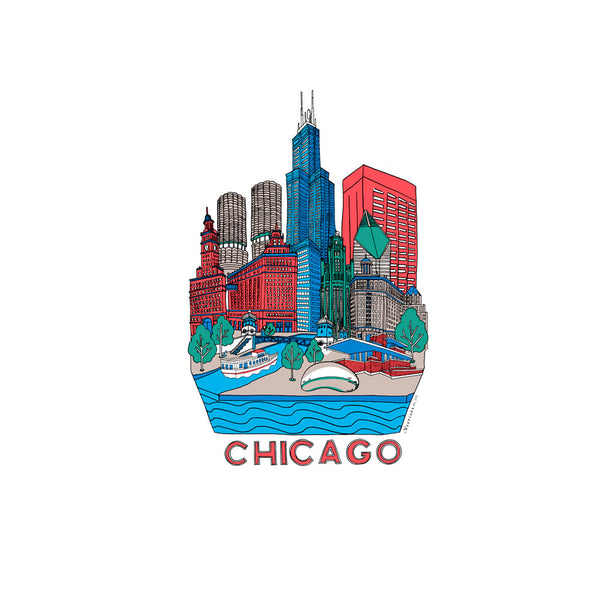 Chicago Skyline Kitchen Towel
