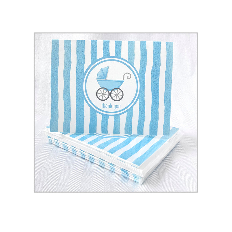 Blue Pram Folded Notecards