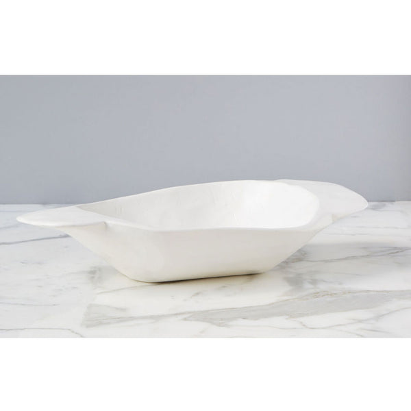 Vintage Dough Bowl White