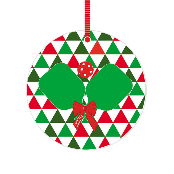 Pickleball 2020 Christmas Ornament