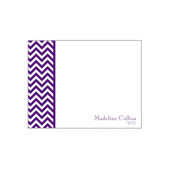 Chevron School Notecards Personalized