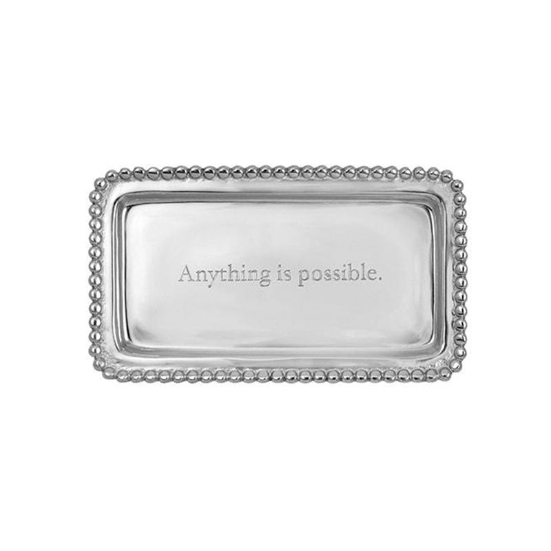 Anything is Possible Beaded Statement Tray