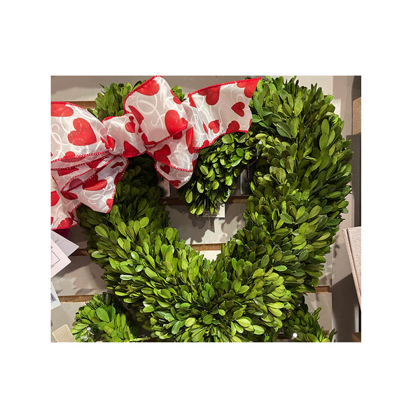 Heart Preserved Boxwood Wreath