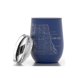 Chicago Etched Insulated Stemless