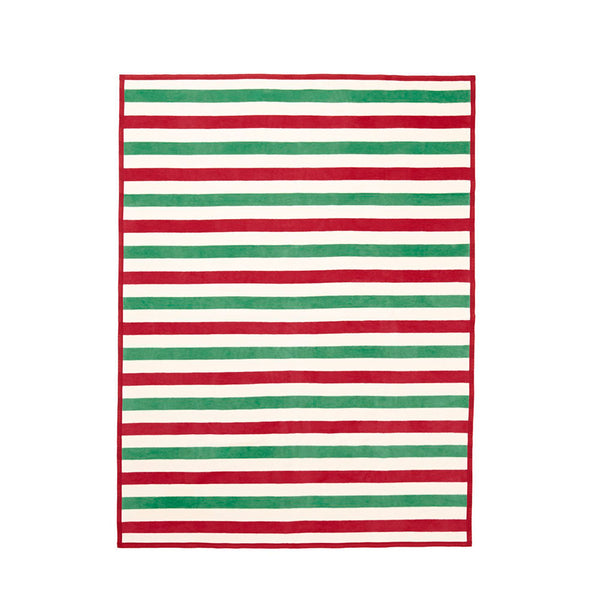 Classic Holiday Stripe Blanket