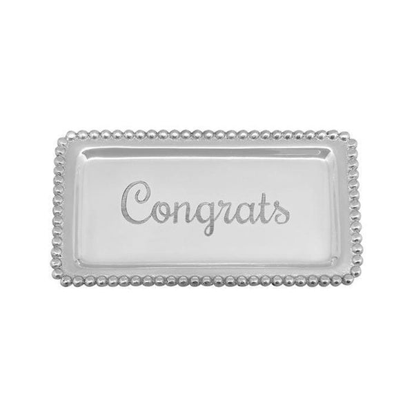 Congrats Beaded Statement Tray