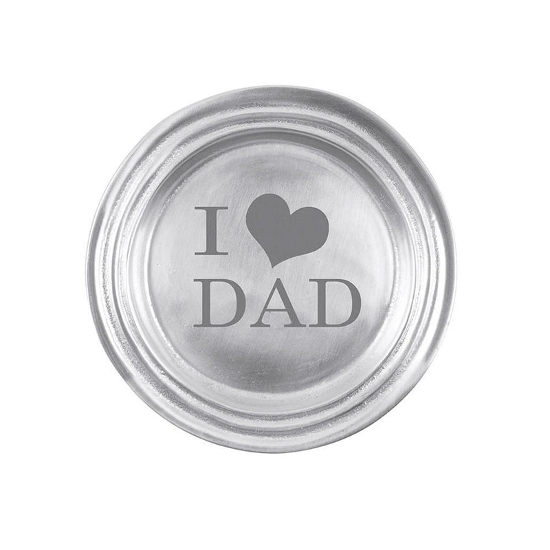 I Love Dad Wine Plate