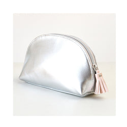 Silver Halfmoon Cosmetic Bag