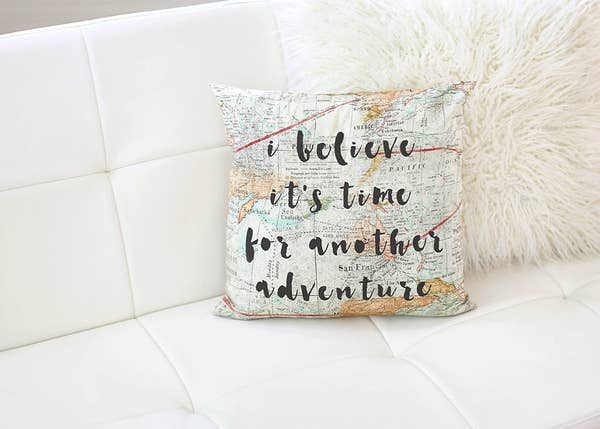 Time for Adventure Pillow
