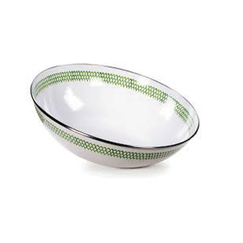 Green Scallops Enamelware Collection