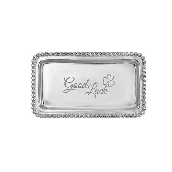 Good Luck Beaded Statement Tray