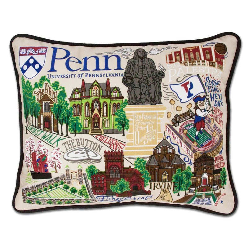 College Embroidered Pillow