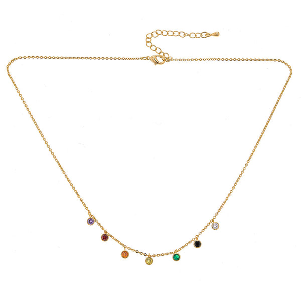 Dangle Rainbow Choker