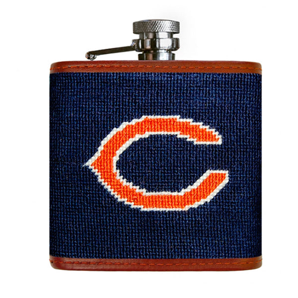 Bears Needlepoint Flask