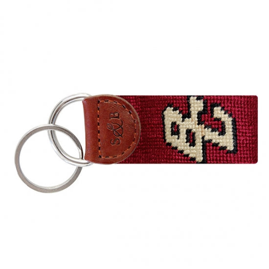 College Needlepoint Key Fob