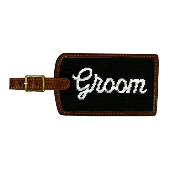 Bride & Groom Needlepoint Luggage Tags