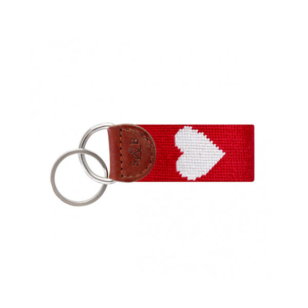 Heart Needlepoint Key Fob