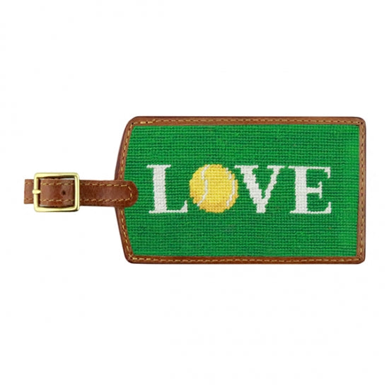 Tennis Needlepoint Luggage Tag