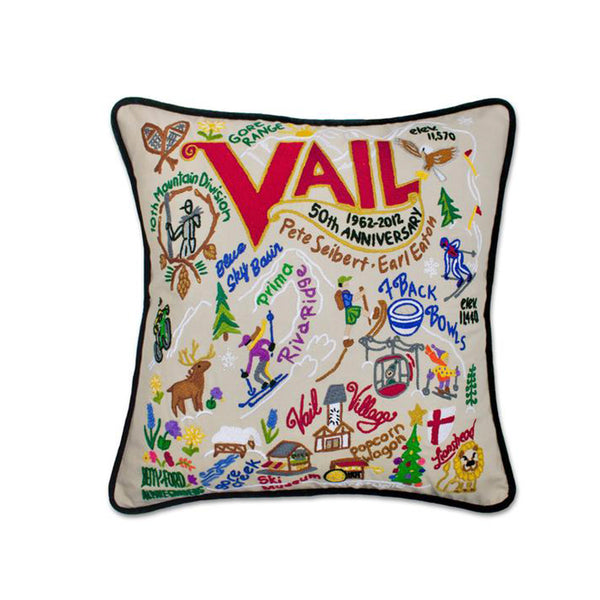 Vail Hand-Embroidered Pillow