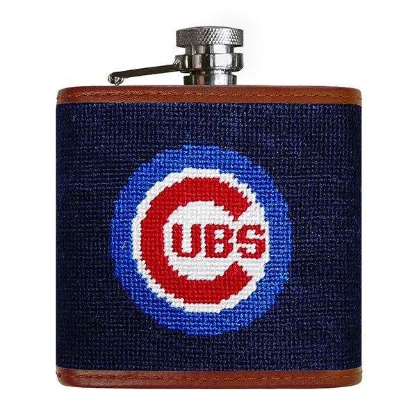 Cubs Needlepoint Flask