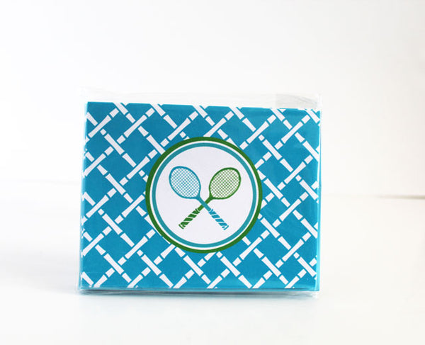 Tennis Folded Notecards