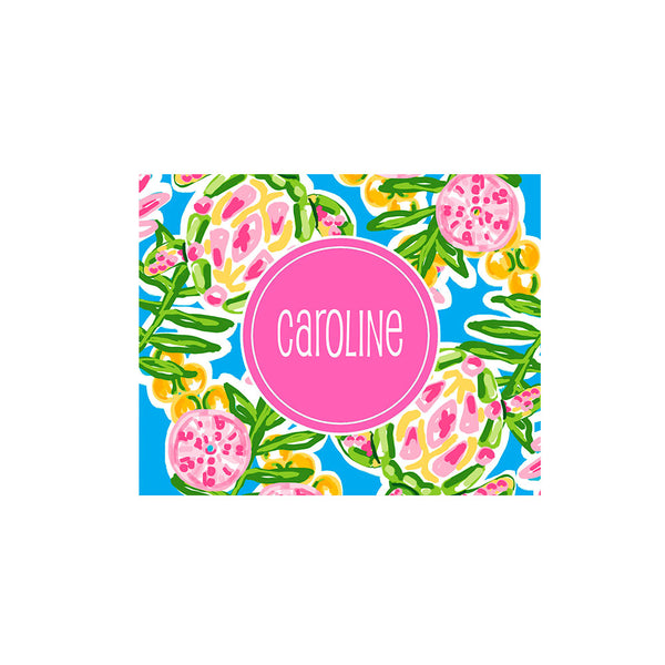 Palm Beach Folded Notecards Personalized