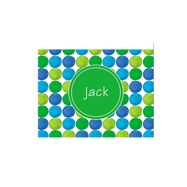 Gumball Folded Notecards Personalized