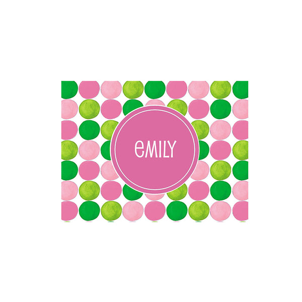 Prep Gumball Folded Notecards Personalized