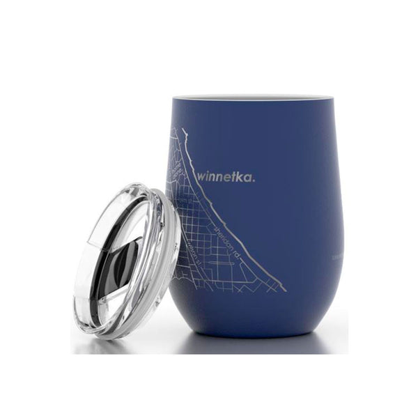 Winnetka Etched Insulated Stemless