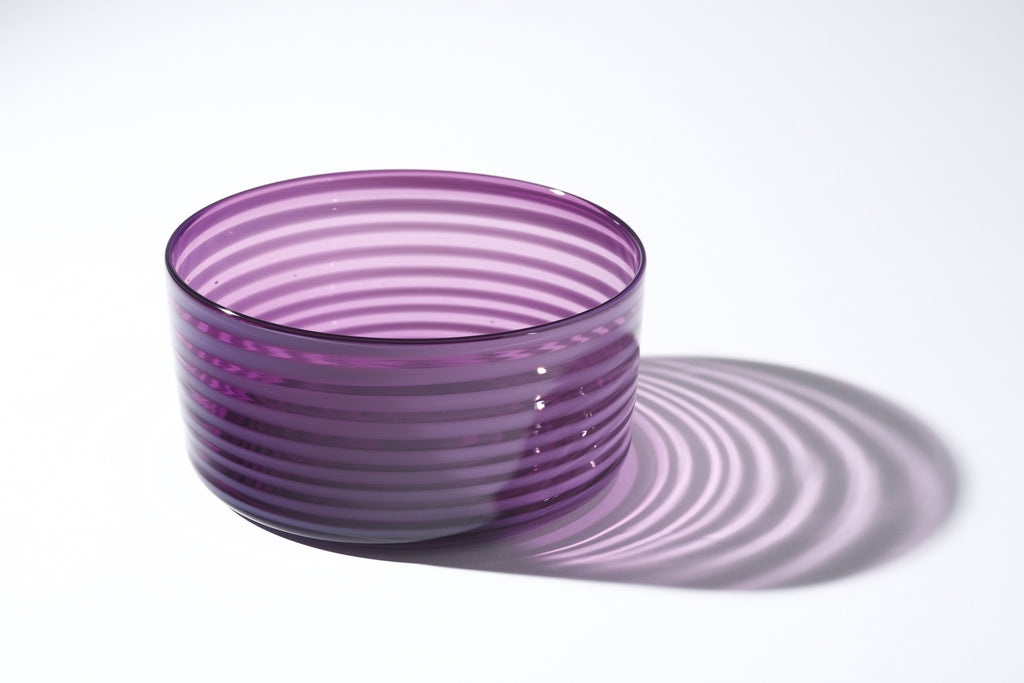 Large Purple Cylindrical Bowl