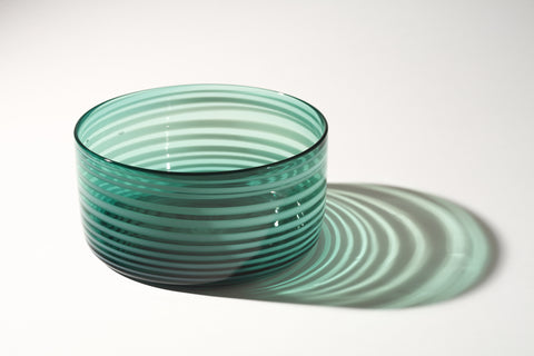Large Green Cylindrical Bowl