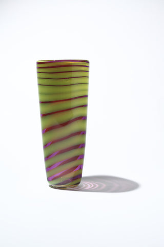 Pink & Yellow Conical Vase