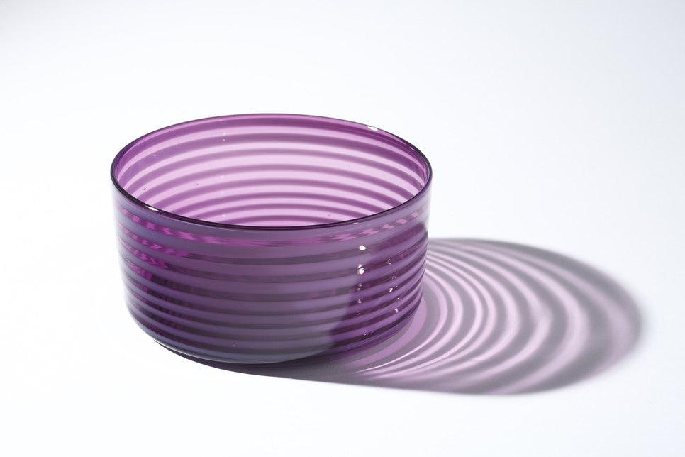 Purple Cylindrical Bowl