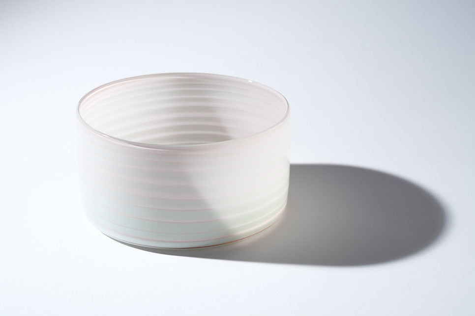 Pastel White Cylindrical Bowl