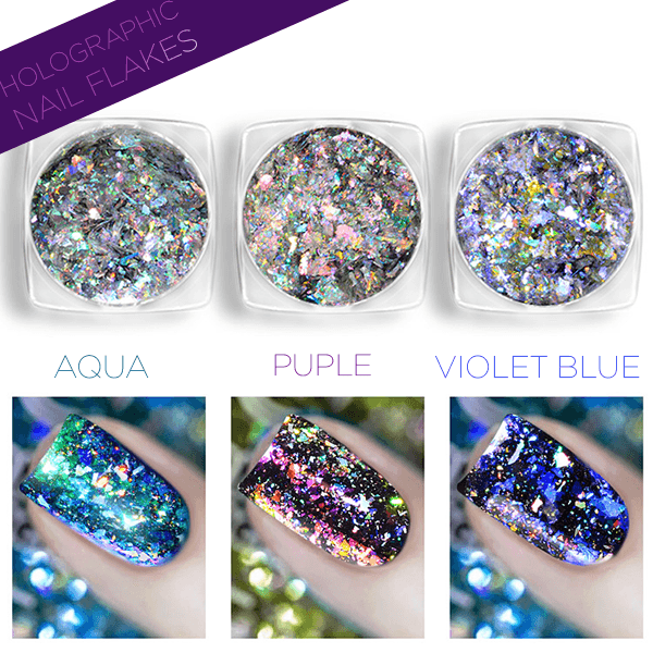 Holographic Nail Flakes