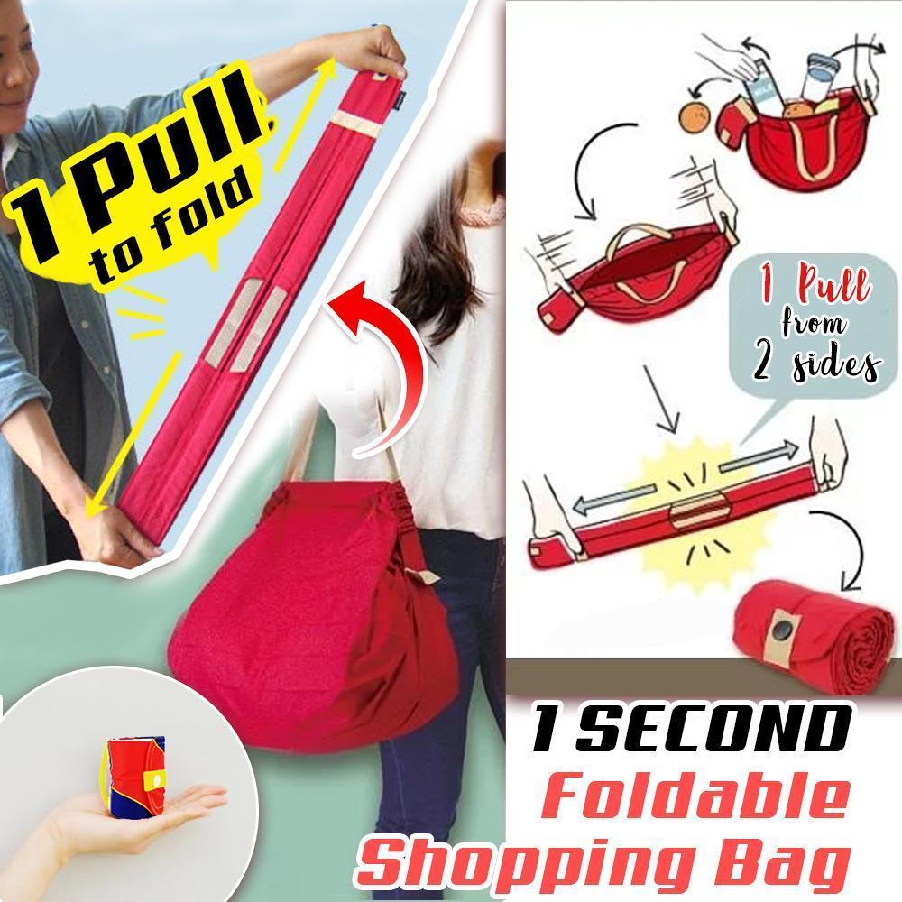 1 SECOND Foldable Shopping Bag