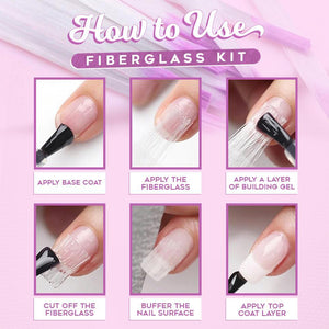 FiberBeauty™ Nail Extension Fiberglass (10PCS) with Gel