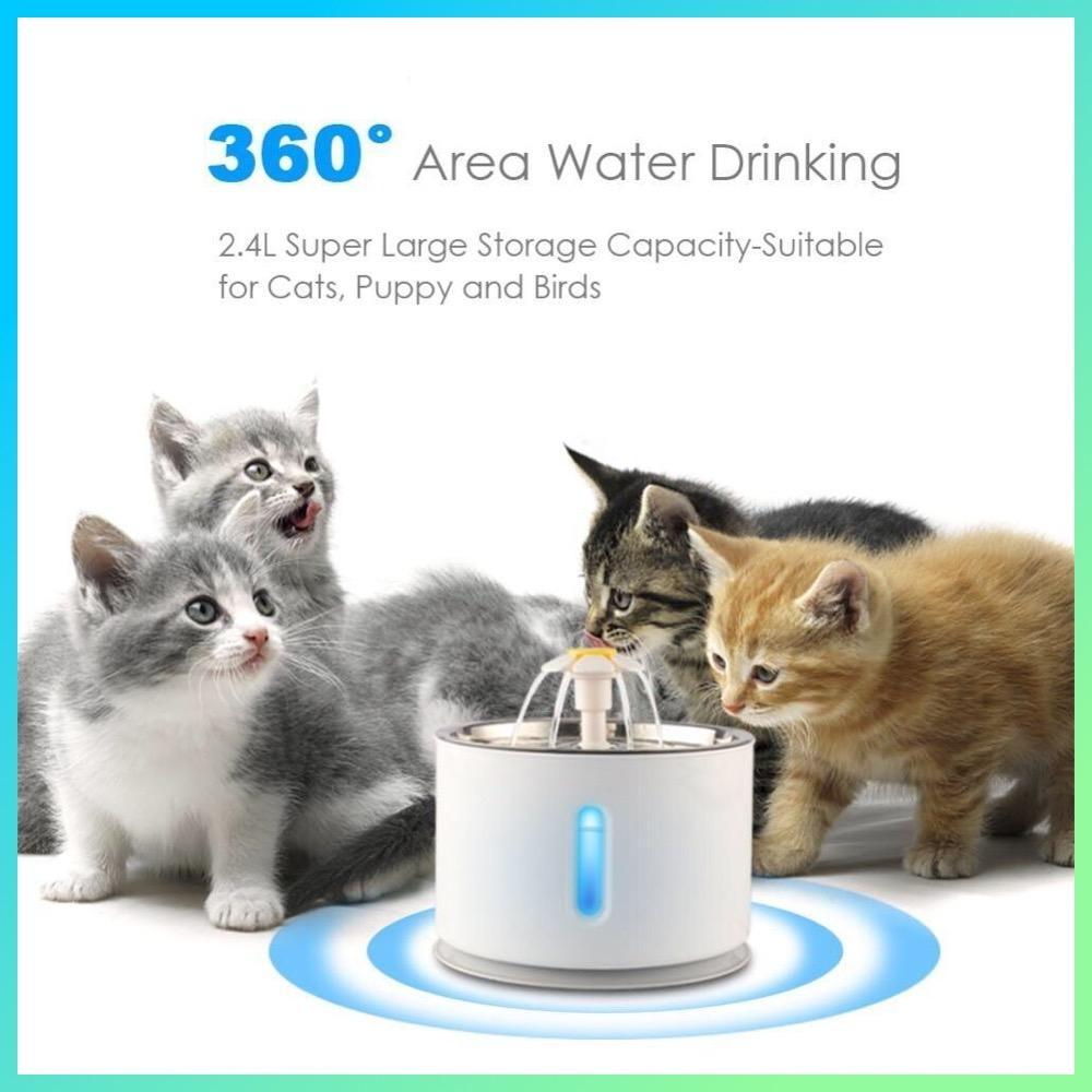 Light-Up Cat Drinking Fountain